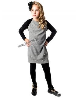 Cudny komplet sukienka i bolerko 128 - 152 Wioletta chaber