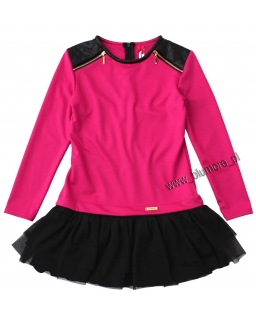 Czaderska sukienka - tunika 134 - 158 Klaudia fuksja