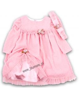Sukienka na wesele dla niemowlaka 68 - 92 Hania róż