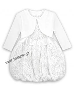 Piękna koronkowa sukienka i bolerko 80 - 110 Anabella biel