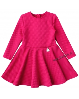 Świetna pikowana sukienka 80 - 122 Sylwia fuksja