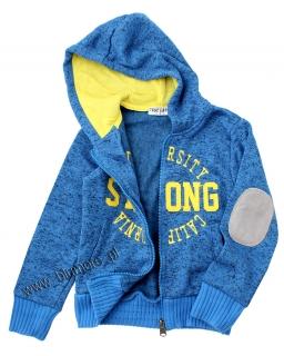 Najmodniejsza bluza a'la sweter 98 - 158 blch01 niebieska