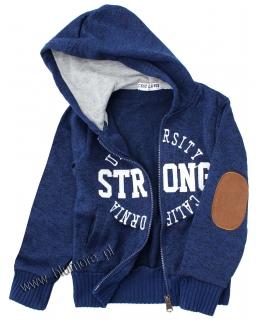 Świetna bluza dla chłopca 98 - 158 blch01 granat