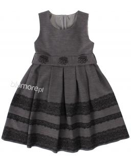 Fantastyczna galowa sukienka z koronką 122 - 152 Zuzanna szara