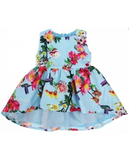Prześliczna kwiatowa sukienka 116 - 152 Aleksa multikolor