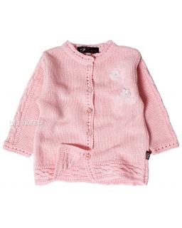 Uroczy sweterek w ażurowy wzór 56 - 86 Kornelia róż