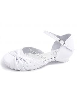 Śliczne pantofelki Zarro 28 - 38 bk04 białe