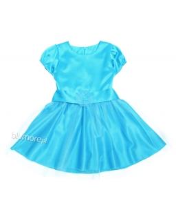 Zjawiskowa trapezowa sukienka 86 - 116 Felicja szary plus granat