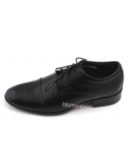 Eleganckie skórzane obuwie do garnituru 33 - 39 Rob czarny