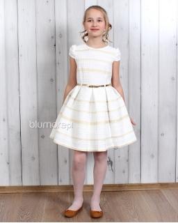 Luksusowa piękna nowoczesna 140 - 164 Pamela złoto i biel