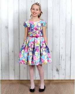 Cudowna suknia na wesele 134 - 158 Pamela multikolor