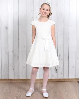 Elegancka koronkowa sukienka 128 - 152 Karolina ecru