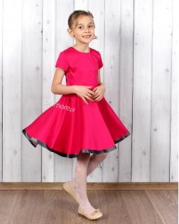 Cudna wirująca sukienka 98 - 158 Oleńka amarant