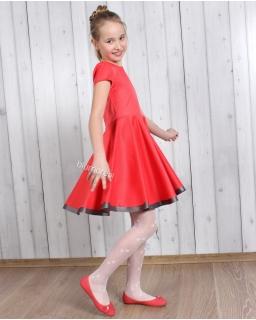 Super sukienka szyta z koła 98 - 158 Oleńka koral