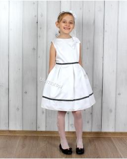 Szlachetna suknia dziewczęca 128 - 158 Lidka biel