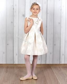 Cudowna sukienka w róże 134 - 152 Tina złoto