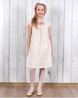 Sukienka trapez boucle 134 - 158 Basia beż
