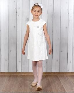 Elegancka sukienka na bazie trapezu 92 - 146 Anna ecru