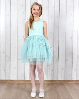 Zwiewna sukienka tiulowo-koronkowa 92 - 152 Oktawia mięta