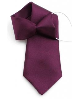 Fioletowy krawat dla chłopca na gumce 31 cm