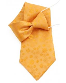 Stylowy krawat na gumce 31 cm szare paski