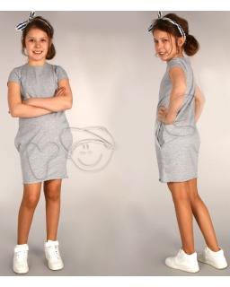 Wygodna, sportowa sukienka 116 - 158 Beatka szara
