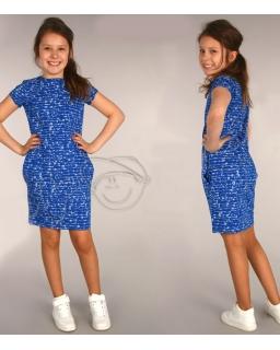 Świetna sukienka dzianinowa 116 - 158 Beatka chaber