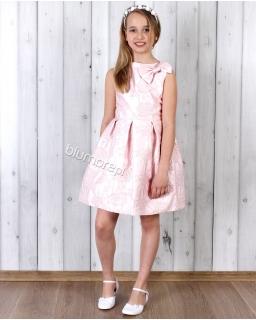 Piękna pastelowa sukienka 134 - 158 Tina róż