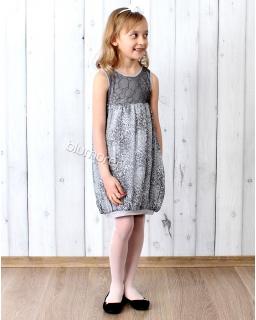 Wygodna sukienka z pazurem 104 - 134 Umbo szara