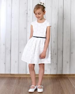 Sukienka dla dziewczynki na Boże Ciało 104 - 140 Natalka biała