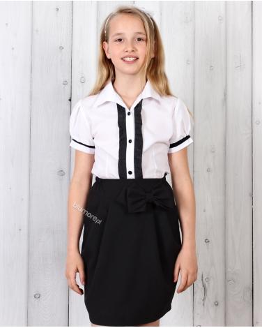 Czarna spódniczka dla dziewczynki do szkoły 122 - 158 Martyna czarna