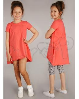 Trapezowa sukienka 116 - 158 Ania morela