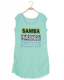 Tunika samba z frędzlami 152 - 170 BGPO-8357 zieleń