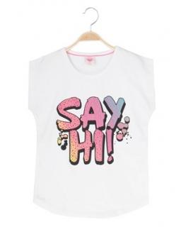 Wesoła bluzka Say Hi 116-128 GBX-8622 biel