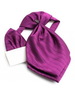 Elegancki musznik chłopięcy do garnituru - fiolet