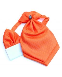 Modny musznik do garnituru dla chłopca - pomarańczowy