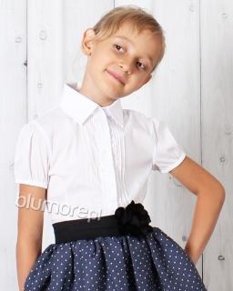 Stylowa bluzka na akademie szkolne 122 - 146 Hania biala