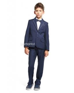 Elegancki galowy garnitur chłopięcy 140 Gregor granat