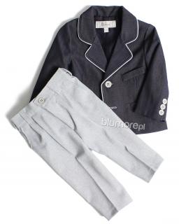 Elegancki garnitur dla najmłodszych chłopców 62 - 116 Karol granat