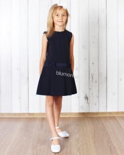 Elegancka suknia do szkoły dla dziewczynki 122 - 140 Asia granat