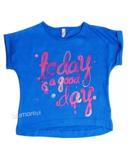 Koszulka z nadrukiem dla dziewczynki 128 - 164 Zosia niebieska