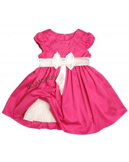 Stylowa weselna sukieneczka dziewczęca 98 - 128 Arielka fuksja