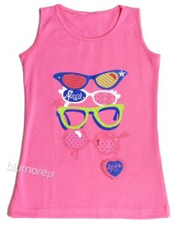 Kolorowy top z okularami bl02 róż