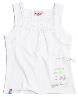 Sportowy top dla dziewczynki 134 - 146 bl04 biały