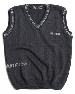 Galowy pulower chłopięcy 110 - 152 K-59E stalowy grafit