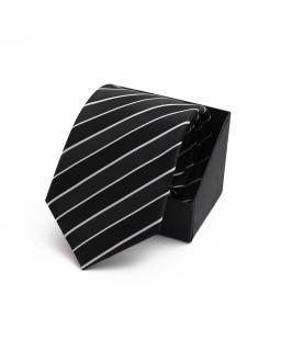 Elegancki krawat chłopięcy do koszuli KR-05 czarny