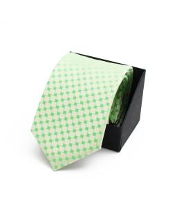 Wizytowy krawat chłopięcy KR-06 pistacjowy