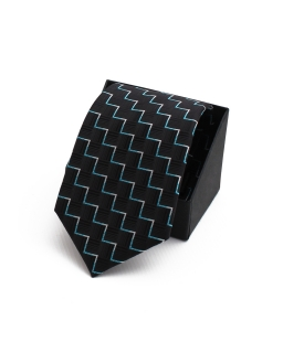Okolicznościowy krawat młodzieżowy KR-07 czarny