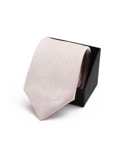 Wiązany krawat młodzieżowy KR-09 cappuccino