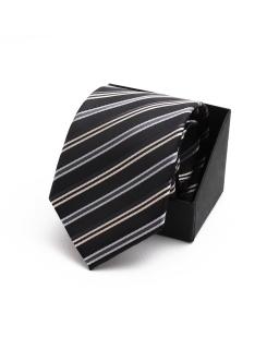 Modny krawat młodzieżowy KR-10 czarny